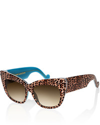 Karlsson Anna Karin Alice Goes To Cannes Sunglasses Gold Leopard