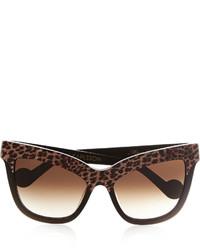 Anna Karin Karlsson Mimi Monaco D Frame Leopard Print Acetate Sunglasses