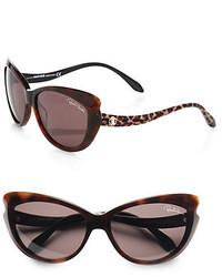 48926182fb ... Roberto Cavalli Bandos Cats Eye Drop Temple Sunglasses