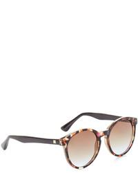 BCBGMAXAZRIA Retro Round Sunglasses