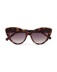 Le Specs Beautiful Stranger Cat Eye Tortoiseshell Acetate And Gold Tone Sunglasses