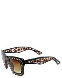 ChicNova Transparent Frame Reflective Square Shape Sunglasses