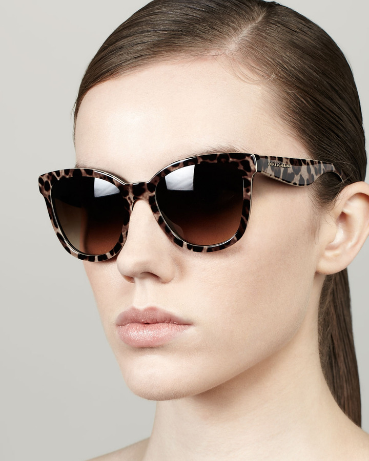 D And G Sunglasses  d g leopard print square sunglasses where to how to wear