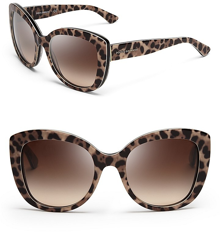 Image Of Grzxy61000052 Celebrity Leopard Print Cat Eye Sungles Shades