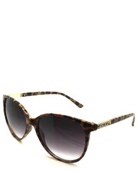 Fantas Eyes Roxanne Leopard Pattern Cat Eye Sunglasses