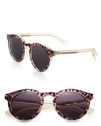 Illesteva Leonard Safari 50mm Round Sunglasses