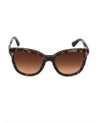 Dolce & Gabbana Leopard Print Round Framed Sunglasses