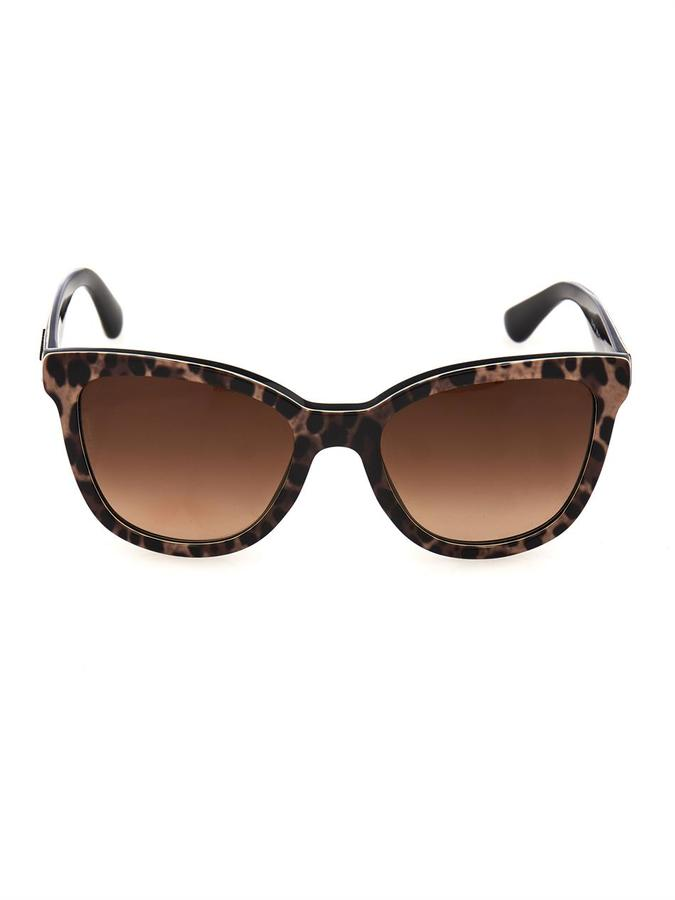 Dolce & Gabbana Leopard Print Round Framed Sunglasses | Where to buy ...