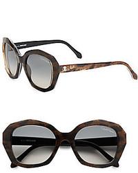 Roberto Cavalli 54mm Oversized Leopard Print Square Sunglasses