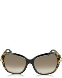 Roberto Cavalli Kochab 876s Animal Print Black Acetate Sunglasses