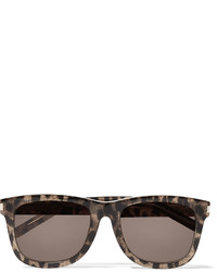 Saint Laurent Sold Out D Frame Leopard Print Acetate Sunglasses