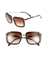 Stella McCartney 52mm Retro Sunglasses Dark Brown One Size