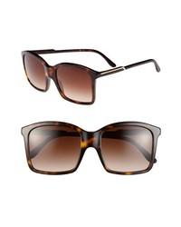 Stella McCartney 54mm Oversized Sunglasses Dark Brown One Size