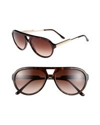 Stella McCartney 57mm Aviator Sunglasses Dark Brown One Size