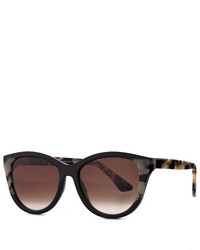 Thierry Lasry Eyewear Thierry Lasry Flattery Cat Eye Sunglasses Black Leopard