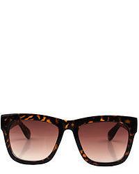 ChicNova Vintage Leopard Frame Sunglasses With Resin Lenses