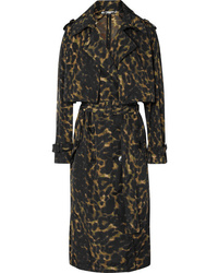 Stella McCartney Leopard Print Nylon Trench Coat