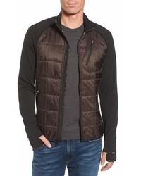 Dark Brown Lightweight Puffer Jacket
