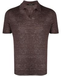 Tagliatore Short Sleeved Linen Polo Shirt