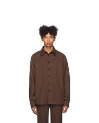Gucci Brown Fluid Drill Shirt