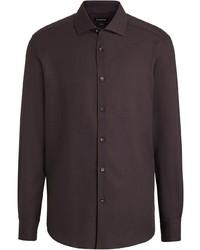 Ermenegildo Zegna Long Sleeve Cotton Blend Shirt