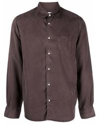 Officine Generale Long Sleeved Lyocell Shirt