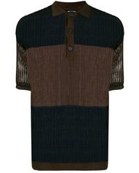 Raf Simons Mesh Knit Polo Shirt