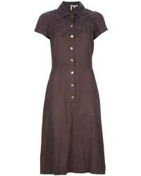 Ken Scott Vintage Jacquard Shirt Dress
