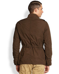 Ralph Lauren Black Label Kilowatt Wax Coated Canvas Military Coat