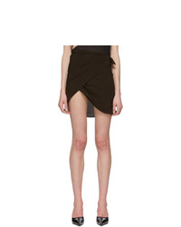 Helenamanzano Brown Wrap Skirt