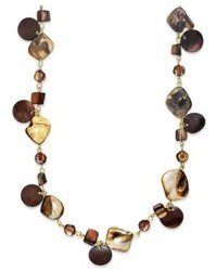 Style co necklace brown shell long necklace medium 309068