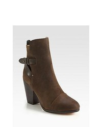 Rag & Bone Kinsey Nubuck Leather Ankle Boots Brown