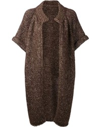 Dark brown open cardigan original 9274333