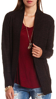 Charlotte Russe Shawl Collar Open Front Cardigan Sweater | Where ...