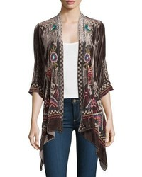 Dani velvet draped cardigan plus size medium 815707