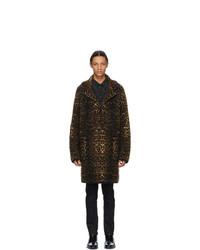 Saint Laurent Beige Wool Single Breasted Coat