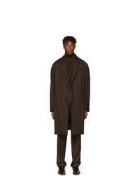 Lemaire Brown Gabardine Coat