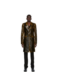 Ann Demeulemeester Brown Wool Long Coat