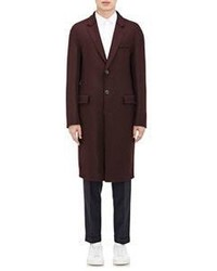 Wooyoungmi Brushed Twill Overcoat Red