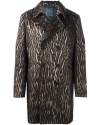 Etro Leopard Print Double Breasted Coat