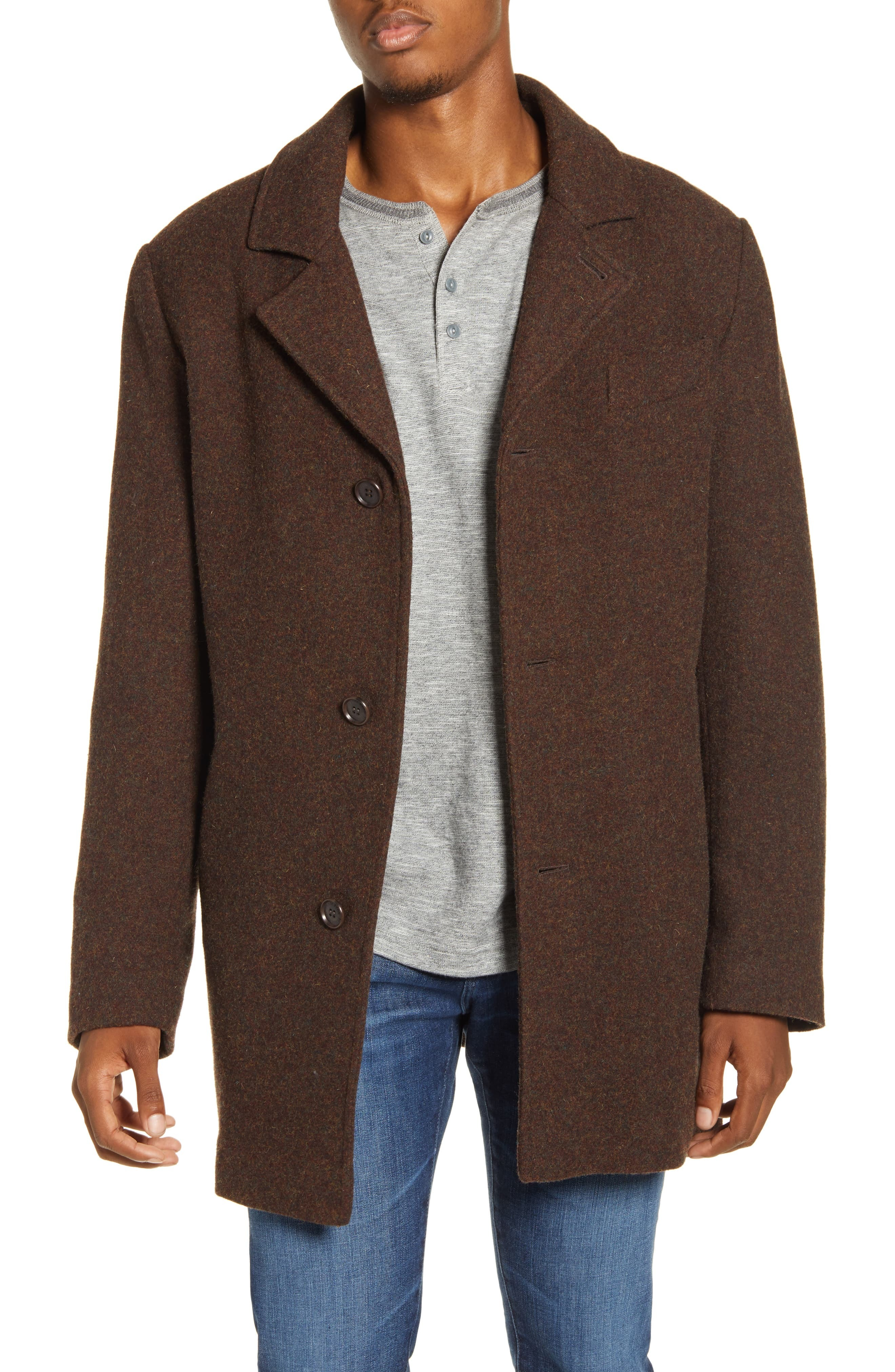 Pendleton Iconic Manhattan Melange Wool Blend Coat