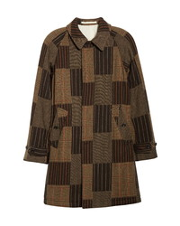 Beams Plus Jacquard Patchwork Balmacaan Coat