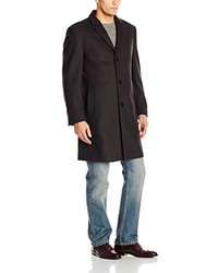 b97a33a3f16d Calvin Klein Plaza Brown Twill Wool Blend Overcoat Out of stock · Calvin  Klein Plaza Striped Wool Cashmere Topcoat