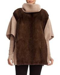Mink fur cashmere poncho medium 5146793