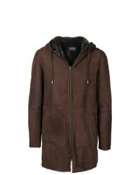 Hooded zipped coat medium 7802337
