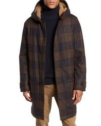 Vince Plaid Duffle Coat With Faux
