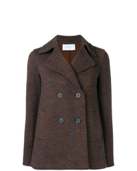 Dark brown pea coat original 2457735