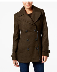 Lucky Brand Asymmetrical Zip Peacoat