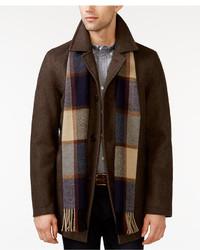 Big tall melton peacoat with scarf medium 392895