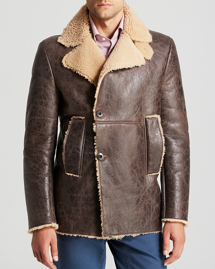 Eidos Moto Shearling Peacoat | Where to buy &amp how to wear